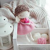 Куклы и игрушки handmade. Livemaster - original item Angel doll with hearts. Handmade.