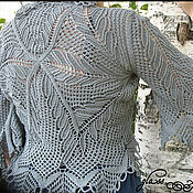 """Одежда ручной работы. Ярмарка Мастеров - ручная работа Кардиган """"Веточки"""" ручной работы, спицы. Handmade."""