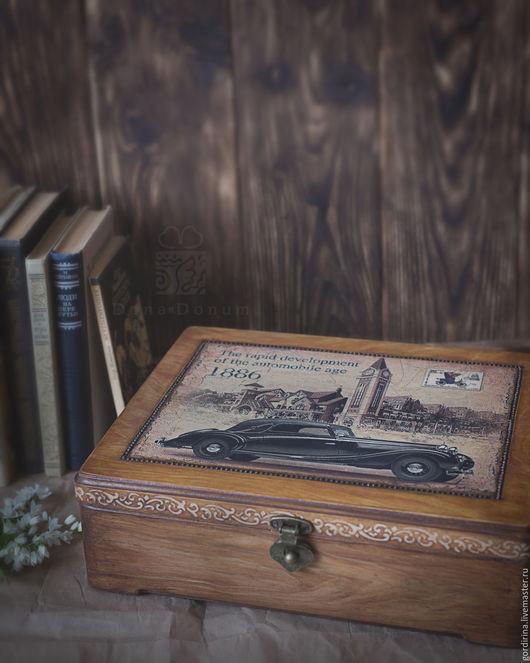 Шкатулки ручной работы. Ярмарка Мастеров - ручная работа. Купить Мужской короб для бумаг. Handmade. Бежевый, короб для хранения