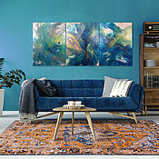 Панно ручной работы. Ярмарка Мастеров - ручная работа Модульная картина 180х80 см. Триптих. Handmade.