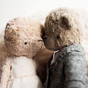 Куклы и игрушки ручной работы. Ярмарка Мастеров - ручная работа Свадебные мишки тедди на Золотую свадьбу. Handmade.