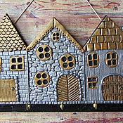 Для дома и интерьера handmade. Livemaster - original item The housekeeper the Golden city. The housekeeper wall. decor polymer clay.. Handmade.