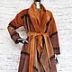Верхняя одежда ручной работы. Ярмарка Мастеров - ручная работа. Купить Пальто из  замши. Handmade. Замша, стильное пальто, шуба