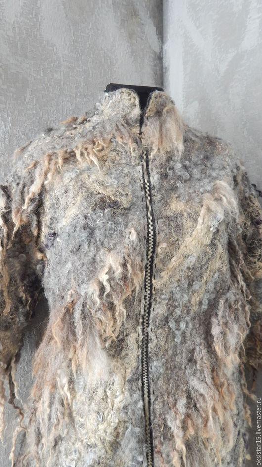"""Верхняя одежда ручной работы. Ярмарка Мастеров - ручная работа. Купить Авторское валяное пальто-""""кокон """"- """"Горная река"""" (бохо-стиль). Handmade."""