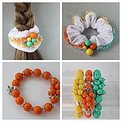 Украшения handmade. Livemaster - original item Bracelet orange Summer mood. Handmade.