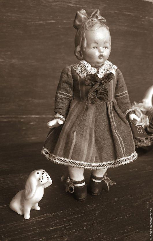 """Коллекционные куклы ручной работы. Ярмарка Мастеров - ручная работа. Купить """"Записки маленькой гимназистки"""". Handmade. Антикварная кукла, кукла"""
