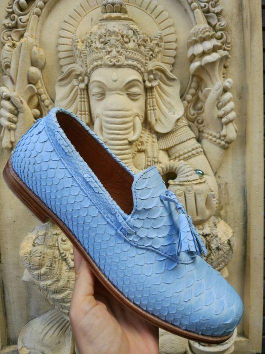 Обувь ручной работы. Ярмарка Мастеров - ручная работа. Купить Туфли летние. Handmade. Туфли мужские, обувь из кожи питона