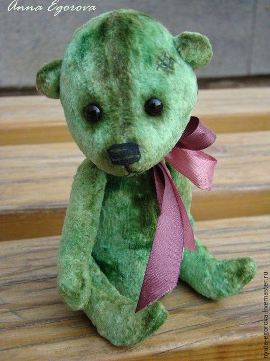 Мишки Тедди ручной работы. Ярмарка Мастеров - ручная работа. Купить Горицветик. Handmade. Зеленый, тедди мишка, шплинтовое соединение