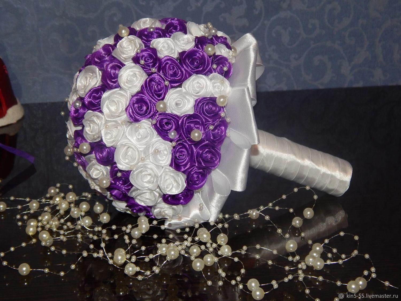 Подарки букет, букет для гостей невесты из атласных лент фото