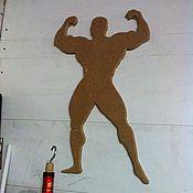 Для дома и интерьера ручной работы. Ярмарка Мастеров - ручная работа Культурист на стену. Handmade.