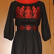 Одежда handmade. Livemaster - original item Women`s dress Slavic