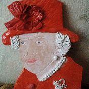 Картины и панно ручной работы. Ярмарка Мастеров - ручная работа Королева Елизавета керамическое панно авторская работа. Handmade.