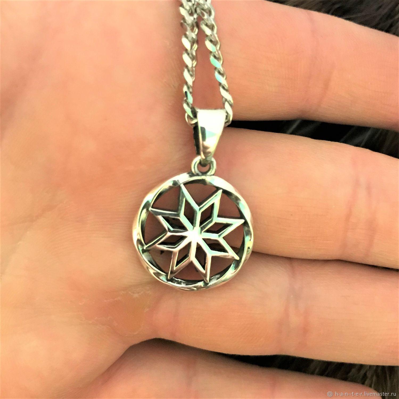 Alatyr-silver, free shipping, Slavic amulet, Folk decorations, Kostroma,  Фото №1