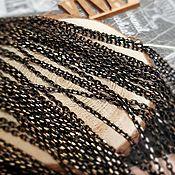Материалы для творчества handmade. Livemaster - original item 1 m Chain black with gold 2x1x0.5. 3051 mm (). Handmade.