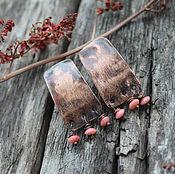 Украшения ручной работы. Ярмарка Мастеров - ручная работа Медные Бохо Серьги с розовым кораллом. Handmade.