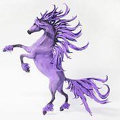 """Куклы и игрушки ручной работы. Ярмарка Мастеров - ручная работа фигурка """"Лошадь сирени"""" (сиреневая лошадь, сирень, сиреневый цвет). Handmade."""