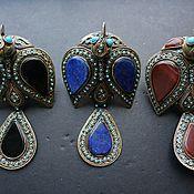 Украшения handmade. Livemaster - original item Bird rings are huge lapis lazuli, carnelian and onyx. Handmade.