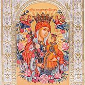 Картины и панно handmade. Livemaster - original item Immortal flower is the icon of the Mother of God (18x24sm). Handmade.