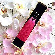 Украшения ручной работы. Ярмарка Мастеров - ручная работа Серьги-кисти Bright pink розовые малиновые фуксия черные в серебре. Handmade.