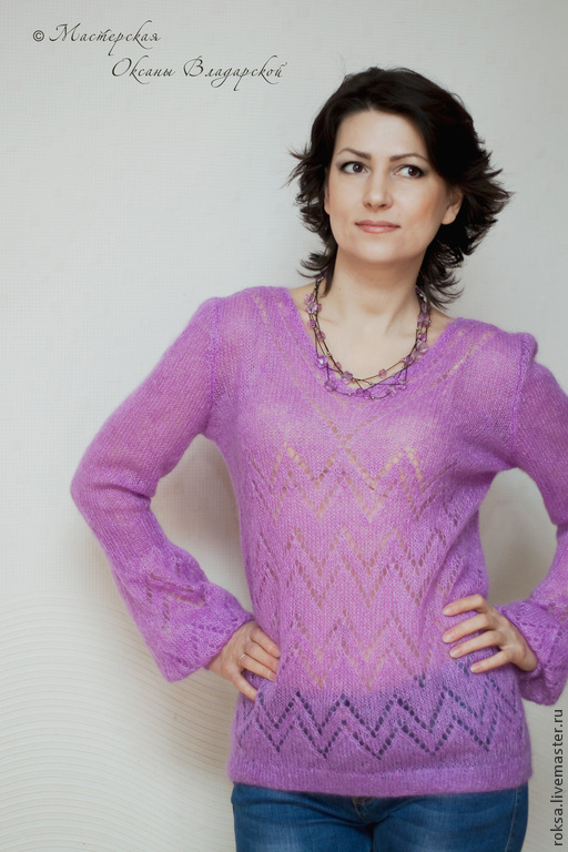 Mohair sweater 'Lilac tenderness', Sweaters, St. Petersburg,  Фото №1