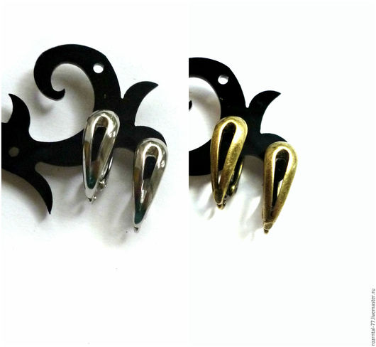 Качественные швензы `Капля` российского производства  2 цвета  Выполнены из латуни с покрытием родий и бронза