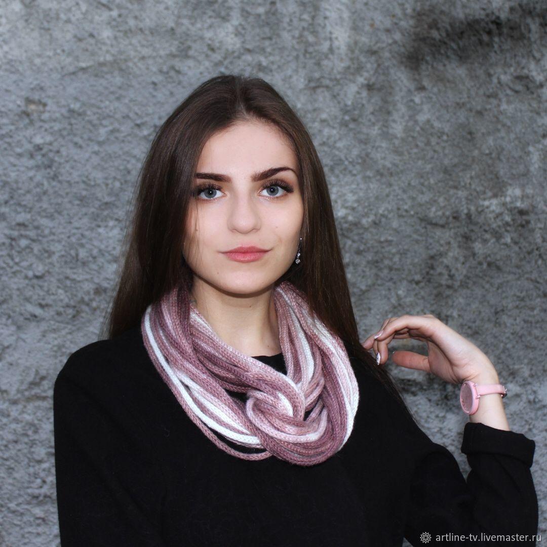 Шарф-бусы какао с молоком, Шарфы, Москва,  Фото №1