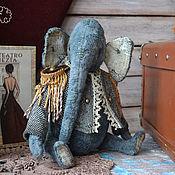 Куклы и игрушки ручной работы. Ярмарка Мастеров - ручная работа Тедди слон Ирвин. Handmade.