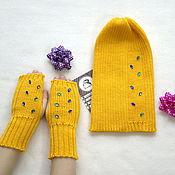Аксессуары handmade. Livemaster - original item Children`s hat from a wool blend yarn
