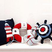 Для дома и интерьера ручной работы. Ярмарка Мастеров - ручная работа Текстиль для комнаты в морском стиле. Handmade.