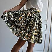 Одежда ручной работы. Ярмарка Мастеров - ручная работа Хлопковая юбка Лесная сказка. Handmade.
