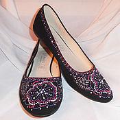 Обувь ручной работы handmade. Livemaster - original item Ballerina painting