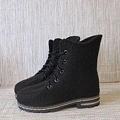 Обувь ручной работы. Ярмарка Мастеров - ручная работа Войлочные ботинки Мокко. Handmade.