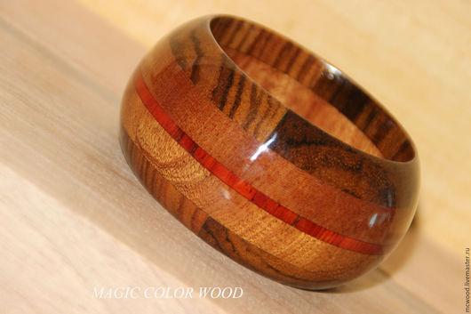 Браслеты ручной работы. Ярмарка Мастеров - ручная работа. Купить Деревянный браслет Тонкая линия. Handmade. Комбинированный, браслет из дерева