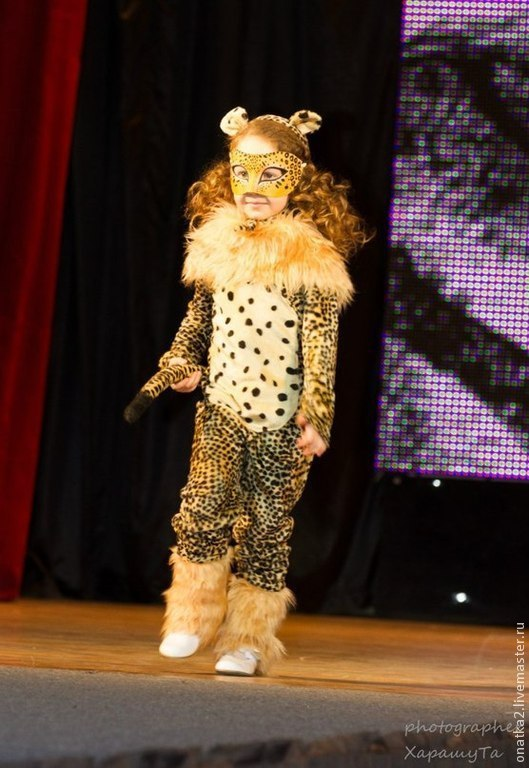 Детские карнавальные костюмы ручной работы. Ярмарка Мастеров - ручная работа. Купить Леопард (карнавальный костюм с маской). Handmade. карнавал