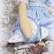 """Куклы Тильды ручной работы. Тильда-ангел.""""Морячка Наталия"""". Маргарита Пожидаева (Margoshadolls). Ярмарка Мастеров. Сердце, кружево хлопок"""