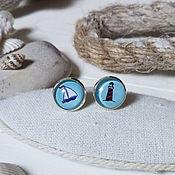 Украшения handmade. Livemaster - original item Silver plated earrings Nautical. Handmade.