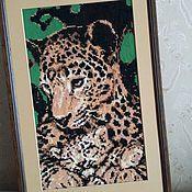 """Картины и панно ручной работы. Ярмарка Мастеров - ручная работа Картина """"Леопарды"""". Handmade."""