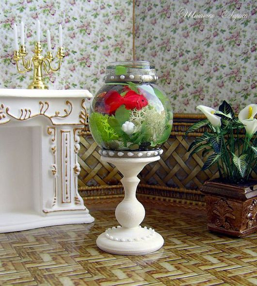 Миниатюра ручной работы. Ярмарка Мастеров - ручная работа. Купить Большой напольный миниатюрный аквариум 1к12. Handmade. Аквариум, 1к12