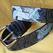 Аксессуары handmade. Livemaster - original item QUETZALCOATL strap leather. Handmade.
