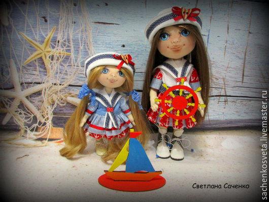 Коллекционные куклы ручной работы. Ярмарка Мастеров - ручная работа. Купить Морячки сестрички. Handmade. Хлопок 100%
