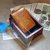 Сумки и аксессуары handmade. Livemaster - original item Two samurai. Compact wallet S-v Fold.2.2.Vegetable tanned. Handmade.