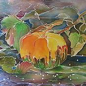 Картины и панно ручной работы. Ярмарка Мастеров - ручная работа Батик панно Тыква 50х60. Handmade.