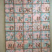 """Одеяла ручной работы. Ярмарка Мастеров - ручная работа Одеяло-панно  """"Русский алфавит"""". Handmade."""