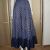 Одежда ручной работы. Ярмарка Мастеров - ручная работа Юбка МАКСИ джинсовка плательная летняя синяя. Handmade.