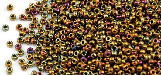 Для украшений ручной работы. Ярмарка Мастеров - ручная работа. Купить Круглый 11/0 Miyuki 462 Golden Rainbow Японский бисер Миюки. Handmade.
