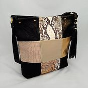 Сумки и аксессуары handmade. Livemaster - original item Bag shopper leather