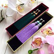 Украшения ручной работы. Ярмарка Мастеров - ручная работа Серьги-кисти Mint lavender мятные лавандовые сиреневые тиффани. Handmade.