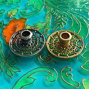 Для дома и интерьера handmade. Livemaster - original item Filigree candle holder for thin candle. RUSSIA.. Handmade.