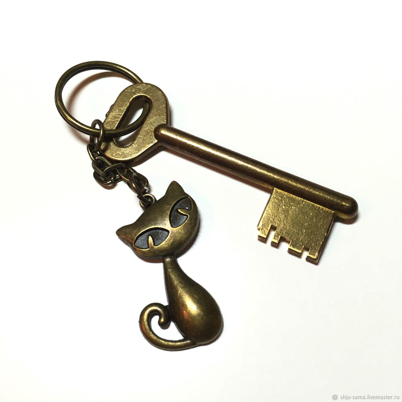 Брелок для ключей Кошка, брелок для сумки