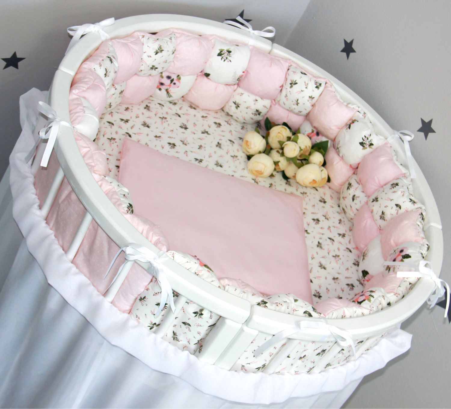 Bombon-bumpers (set in a child's bed ), Sides for crib, Blagoveshchensk,  Фото №1
